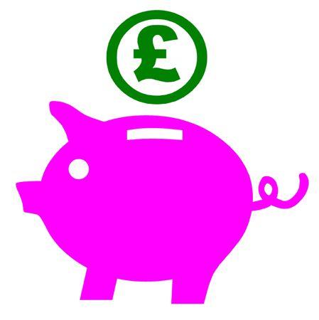 financial advice: Piggy Bank Illustration