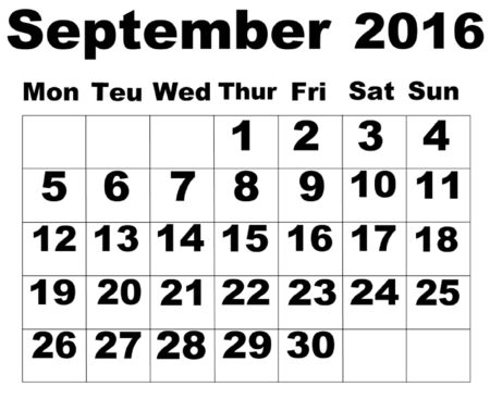 september: September Calendar 2016