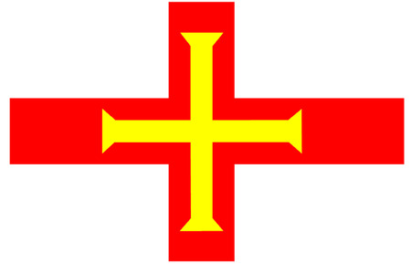 bailiwick: Flag of Guernsey