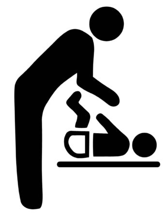 washroom: Baby Change Symbol Illustration