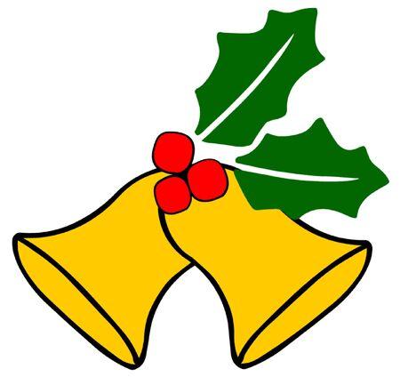 campanas de navidad: Campanas de Navidad Vectores