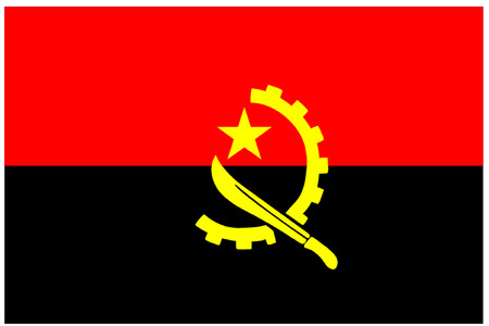 zaire: Flag of Angola