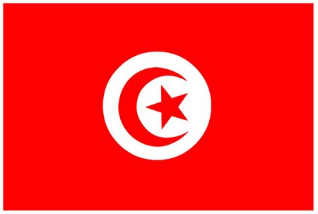 tunisia: Flag of Tunisia Illustration