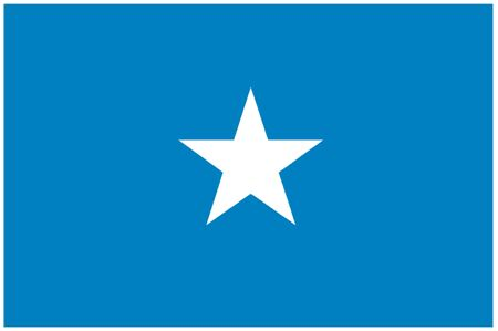 somalian: Flag of Somalia Illustration