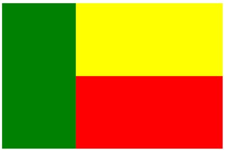 benin: Flag of Benin, Africa. Illustration