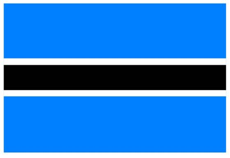 Flag of Botswana, Africa.