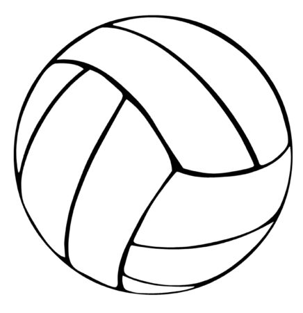 overhand: Volleyball Illustration