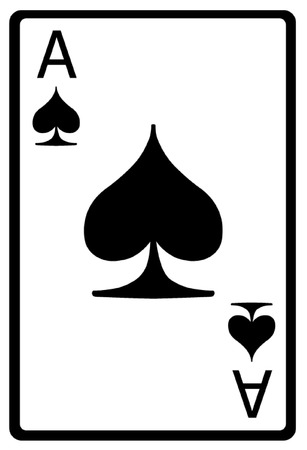 gambling game: Ace of Spades Playing Card