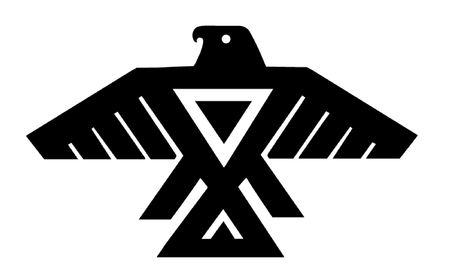 アメリカ ・ インディアンのサンダーバードのトーテム