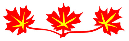 edmonton: Red Maple Leaves Canadian Standard Symbol