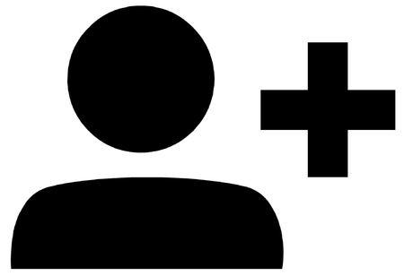 add symbol: Add Friend Symbol