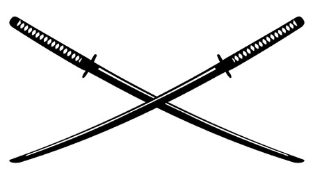 katana: Crossed Japanese Katana
