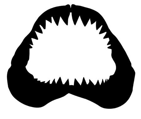 Shark Jawbone Vectores