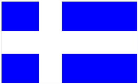 calais: Flag of Calais, France.