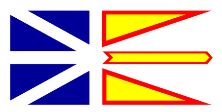 newfoundland: Flag of Newfoundland and Labrador, Canada.