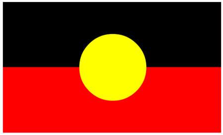 aborigen: Bandera de los aborígenes de Australia