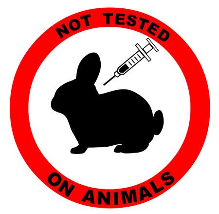 animal cruelty: Not Tested on Animals Symbol Illustration