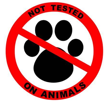 medical testing: Not Tested on Animals Symbol Illustration