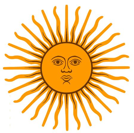 sunbathe: The Sun of May Illustration