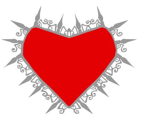 gothic heart: Gothic Heart Design Illustration