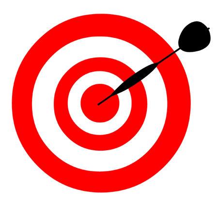 dart: Dart hitting the bullseye