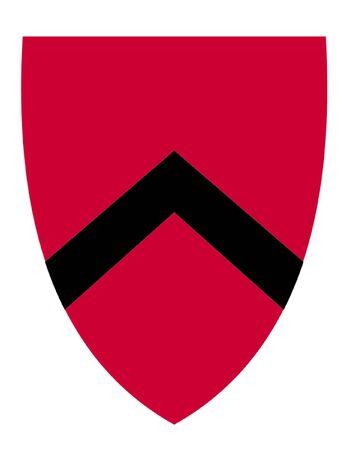 heraldic shield: Heraldic Shield Illustration