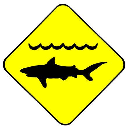 danger to life: Warning Sharks Symbol Illustration