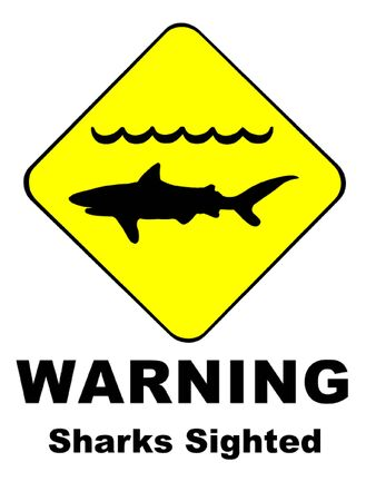 Warning Sharks Sighted Symbol