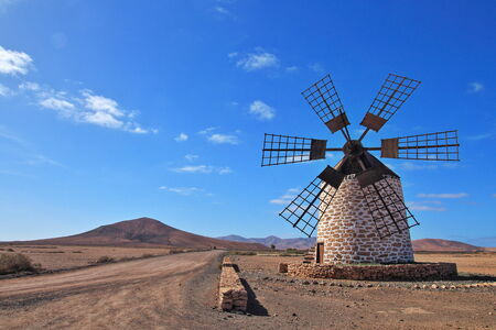 fuerteventura: Windmill on Fuerteventura Canary Islands, Spain, Europe