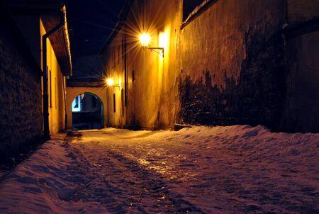 Street in Spisska Sobota, Slovakia Banque d'images