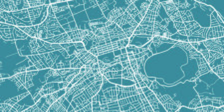 Detailed map of Edinburgh, scale 1:30 000 in Scotland.