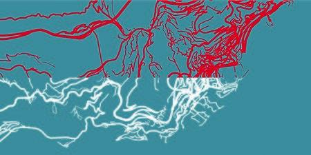 Detailed map of Monaco based on national flag of Monaco, scale 1:30 000 Illustration