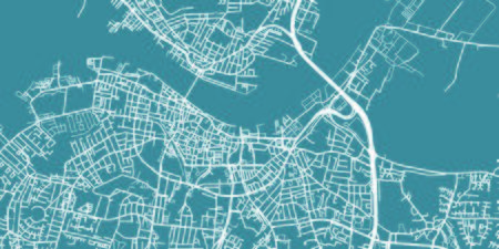 Detailed vector map of Aalborg, scale 1:30 000, Denmark