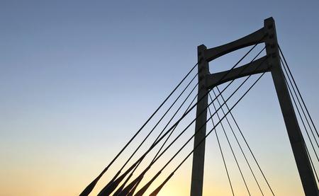 Suspended Bridge Banco de Imagens