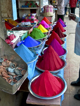 Dyes for fabric at the Nizwa market in Oman