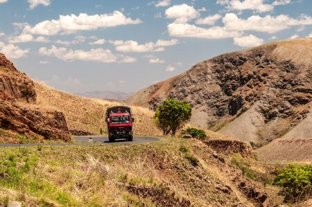 Truck trudges over the hills of Madagascars