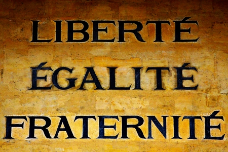 fraternity: The motto of French Revolution Stock Photo