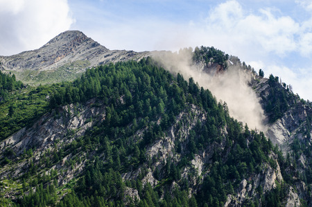 avalanche: avalanche in italian alps Stock Photo