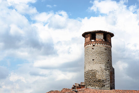 medioeval: Medioeval tower made of bricks and stones Stock Photo