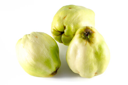 Apple variety called quince or cotogna oblonga photo