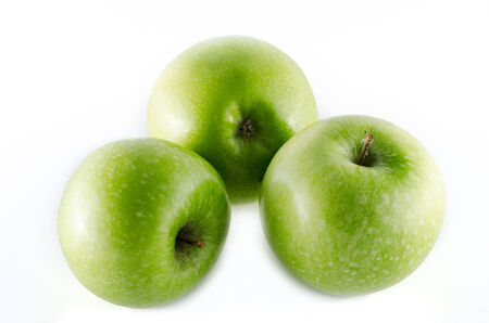 granny smith: granny smith apples isolated on white background Stock Photo