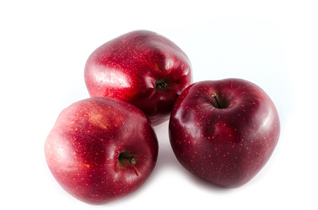 stark: red stark apples isolated on white background