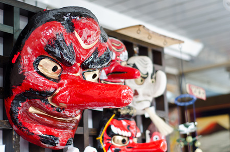 japanese traditional theatre mask sold as souvenir photo