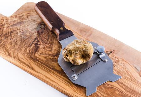 expensive white truffle from Alba and steel slicer Standard-Bild