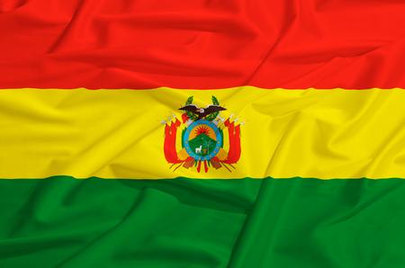 drape: Bolivia flag on a silk drape waving