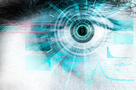 Digital hud as cyber backgrund with eye
