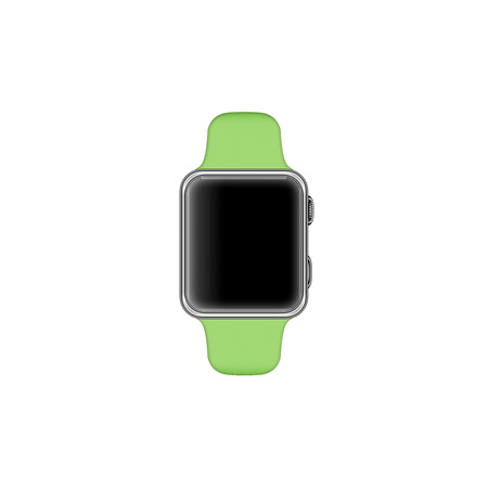 Rendering of a smartwatch isolated on white background and blank screen