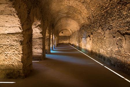 old roman underground in the city of Aosta italy
