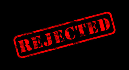 rejected: rejected red old rubber stamp on black