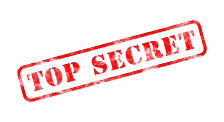 top secret red rubber stamp on white photo